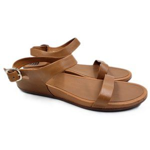 FitFlop Leather Double Strap Comfort Wedge…